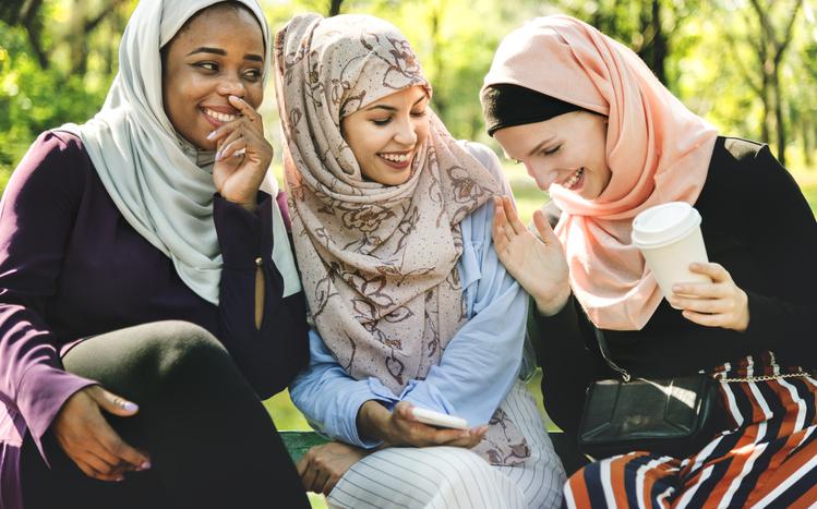 Girls laughing having fun